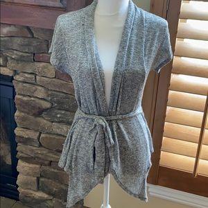 Zoah Design short sleeved wrap around sweater, L